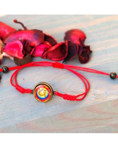 "Bracelet with mandala ""Second Chakra"" ."