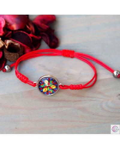 "Bracelet with mandala ""Crystal Shield"" protection."