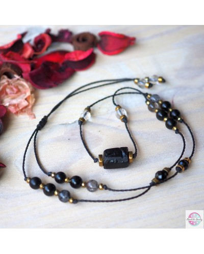 """""""Full Protection"""" mineral necklace tourmaline."""