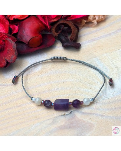 "Mineral bracelet ""Calming"" amethyst mini."