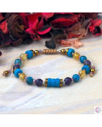 """""""I am healthy"""" mineral bracelet."""