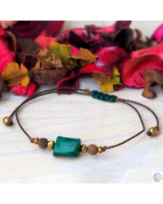 Bracelet peace of mind and transformation - malachite.