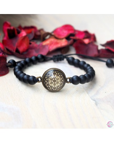 """Bracelet """"harmoni"""" with the mandala """"Flower of Life"""""""