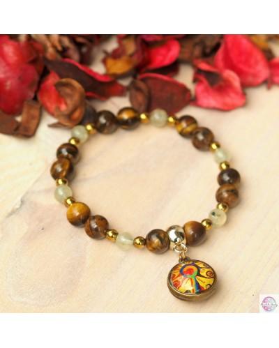 """Bracelet with mandala """"Tree of children's energy""""."""