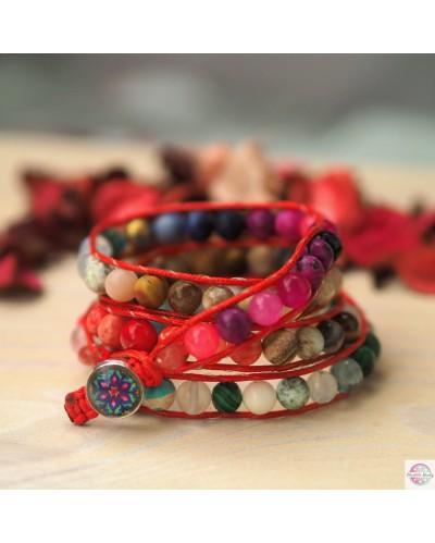 Boho bracelet with mandala to choose from.