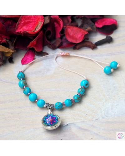 """Bracelet """"Fulfillment of the Heart"""" turquoise."""