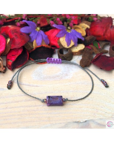 """Bracelet """"I can see clearly"""" - charoite."""