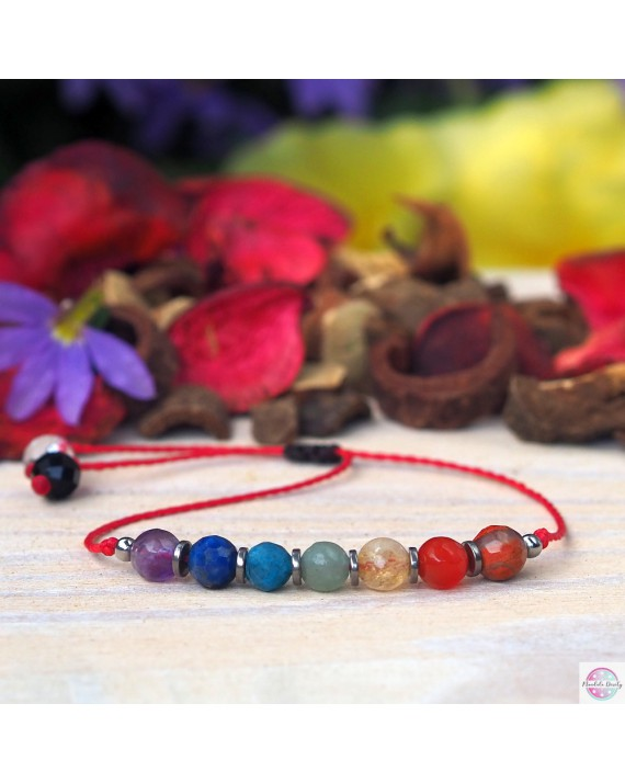 """Chakra Stones"" mineral bracelet."
