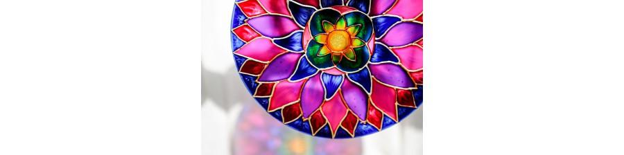 Mandala na szkle - Sklep z mandalami.