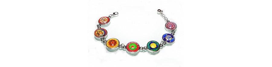 Jewelry with chakras.