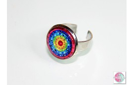 Rings with mandalas.