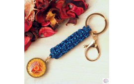 Key ring with mandala.